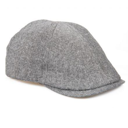 3603afa6d2699 Senlak Linen Flat Cap - Grey .